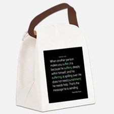 Suffering-Thich Nhat Hanh Canvas Lunch Bag