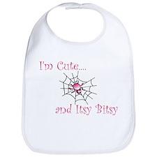 Im Cute and Itsy Bitsy Girl Bib