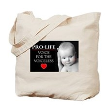 Pro-Life Voice for the Voiceless Tote Bag