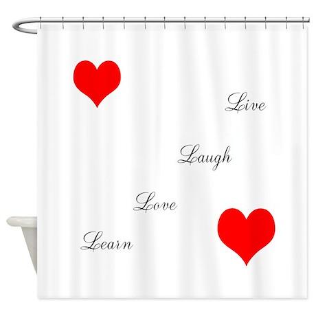 LoveandPeace Shower Curtain