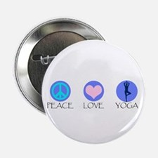 "PEACE LOVE YOGA 2.25"" Button"