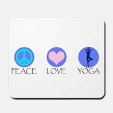 PEACE LOVE YOGA Mousepad