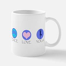 PEACE LOVE YOGA Small Small Mug