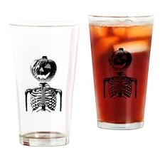 Halloween Pumpkin head Drinking Glass