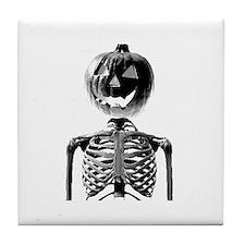 Halloween Pumpkin head Tile Coaster