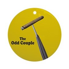 Cigar and Umbrella Title Ornament (Round)
