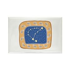 Capricorn Constellation Design Rectangle Magnet