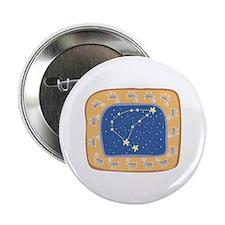 Capricorn Constellation Design Button