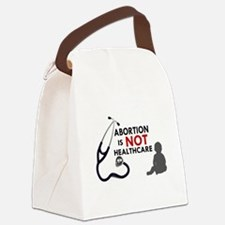Abortion is not Healthcare Canvas Lunch Bag
