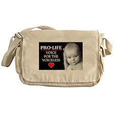 Pro-Life Voice for the Voiceless Messenger Bag