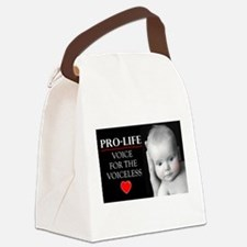 Pro-Life Voice for the Voiceless Canvas Lunch Bag