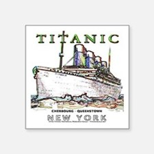 "Titanic Neon (white) Square Sticker 3"" x 3"""
