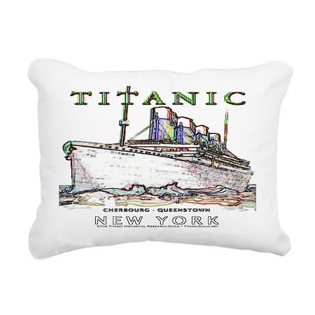 Titanic Neon (white) Rectangular Canvas Pillow
