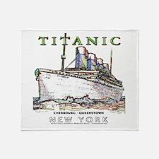 Titanic Neon (white) Throw Blanket