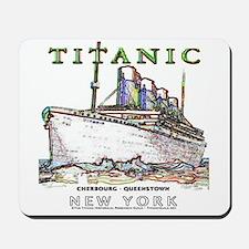 Titanic Neon (white) Mousepad