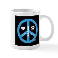 Peace, Love, My Dog Mug