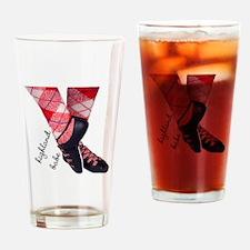 Highland babe tartan legs Drinking Glass