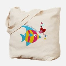 Cute Fish with Hearts Tote Bag