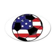 USA Soccer Ball 20x12 Oval Wall Decal