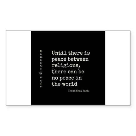 Religious Peace-Thich Nhat Hanh Sticker (Rectangle