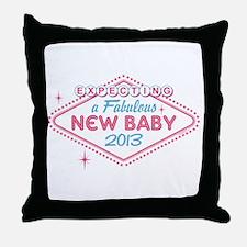 Las Vegas Expecting 2013 Throw Pillow