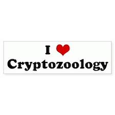 I Love Cryptozoology Bumper Bumper Bumper Sticker