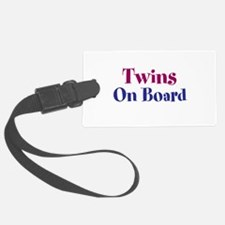 Twins On Board Luggage Tag