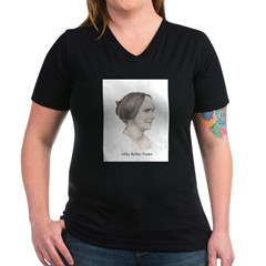 Abby Kelley Foster Women's V-Neck Dark T-Shirt