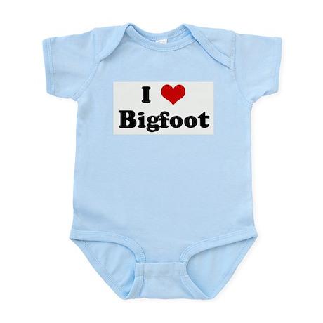 I Love Bigfoot Infant Creeper