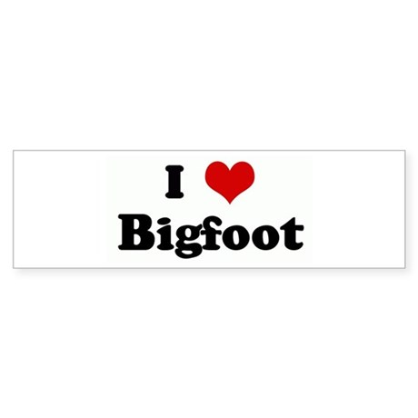 I Love Bigfoot Bumper Sticker