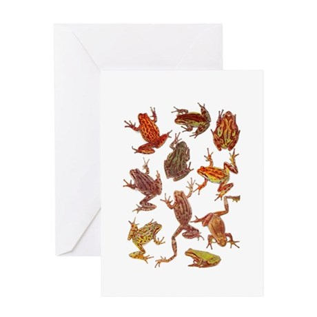 Tree Frogs Greeting Card