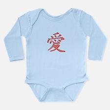 Chinese Love Long Sleeve Infant Bodysuit