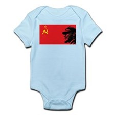 Lenin Soviet Flag Infant Creeper