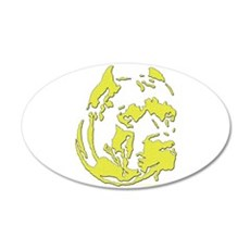 yellow pit head 20x12 Oval Wall Decal
