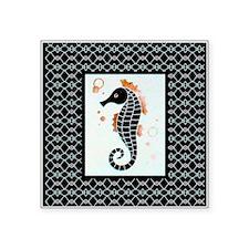 """The Little Sea Horse Square Sticker 3"""" x 3"""""""
