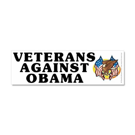 Veterans against Obama - Car Magnet 10 x 3