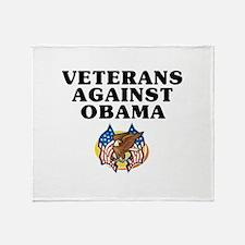 Veterans against Obama - Throw Blanket