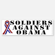Soldiers against Obama Bumper Bumper Sticker