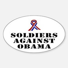 Soldiers against Obama Decal