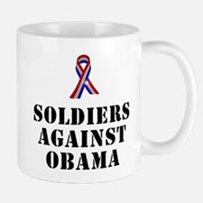 Soldiers against Obama Mug
