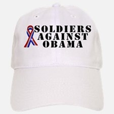 Soldiers against Obama Baseball Baseball Cap