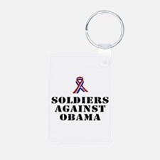 Soldiers against Obama Keychains