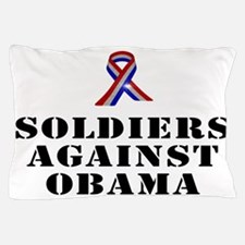 Soldiers against Obama Pillow Case