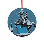 Jackson Horse Blue.jpg Ornament (Round)