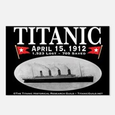 Titanic Ghost Ship (black) Postcards (Package of 8