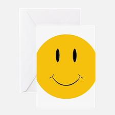 Happy Orange Face Greeting Card