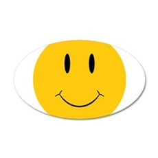 Happy Orange Face Wall Decal