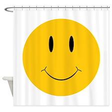 Happy Orange Face Shower Curtain