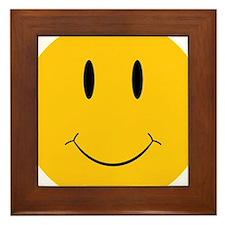Happy Orange Face Framed Tile