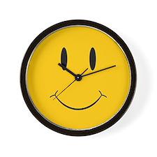 Happy Orange Face Wall Clock